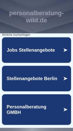 Vorschau der mobilen Webseite www.personalberatung-wild.de, Dr. Wild Personalberatung