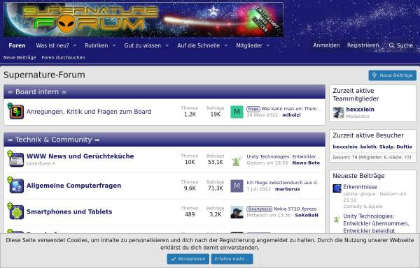 Vorschau von www.supernature-forum.de, Supernature-Forum