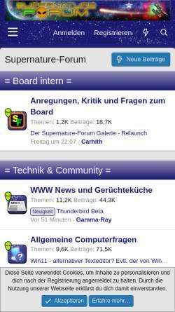 Vorschau der mobilen Webseite www.supernature-forum.de, Supernature-Forum