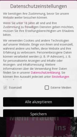 Vorschau der mobilen Webseite www.fim.de, FIM Vereinigung für Frauen im Management e.V.