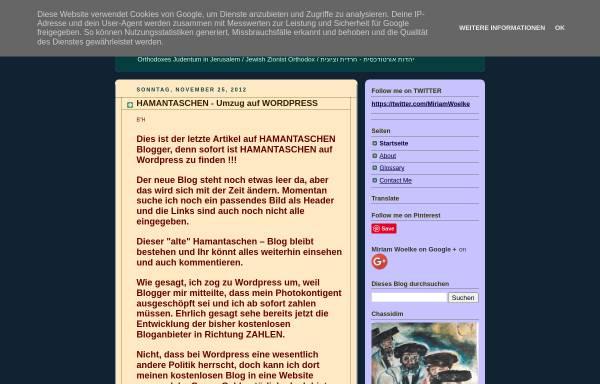 Vorschau von hamantaschen.blogspot.com, hamantaschen