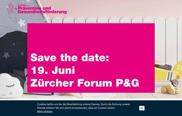 Vorschau von www.gesundheitsfoerderung-zh.ch, Institut für Sozial- und Präventivmedizin der Universität Zürich