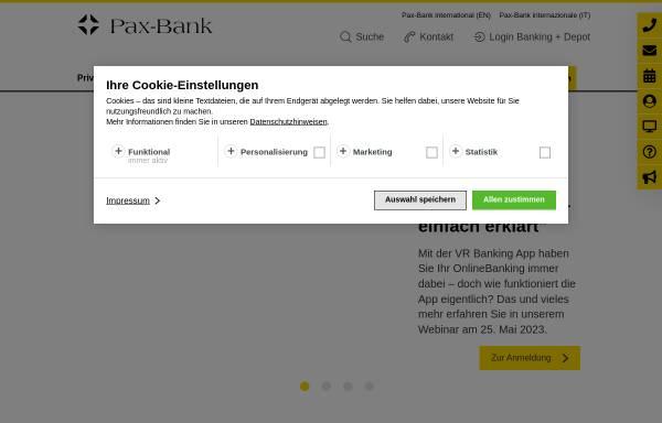 Vorschau von www.paxbank.de, Pax-Bank eG