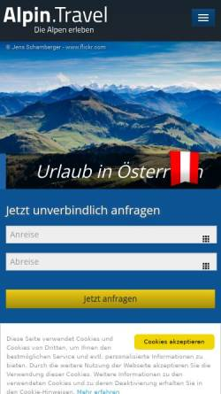 Vorschau der mobilen Webseite www.alpenstadt.com, Alpenstadt.com [Alpenstadt AG]