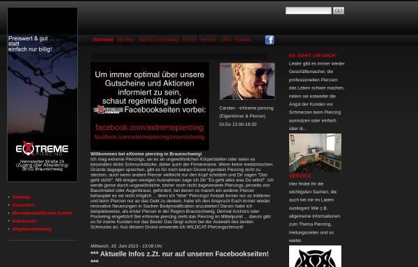Vorschau von www.extremepiercing.de, Extreme Piercing