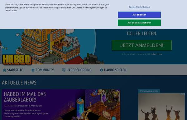 Vorschau von www.habbo.de, Habbo Hotel