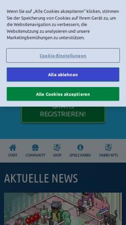 Vorschau der mobilen Webseite www.habbo.de, Habbo Hotel