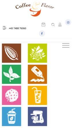 Vorschau der mobilen Webseite www.coffeeandflavor.at, Coffee & Flavor