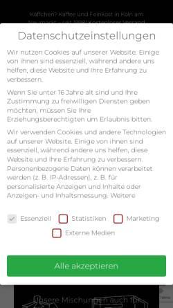 Vorschau der mobilen Webseite www.kaeffchen.de, Käffchen?