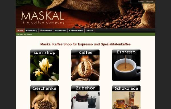Vorschau von maskal.de, Maskal - fine coffee company, Dr. Hans-Jürgen Langenbahn