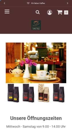Vorschau der mobilen Webseite www.schwarz-coffeeshop.de, Schwarz Coffee Shop GmbH