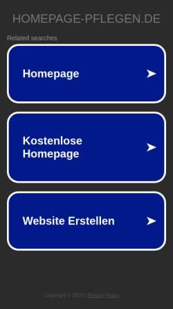 Vorschau der mobilen Webseite www.homepage-pflegen.de, Homepage Manager