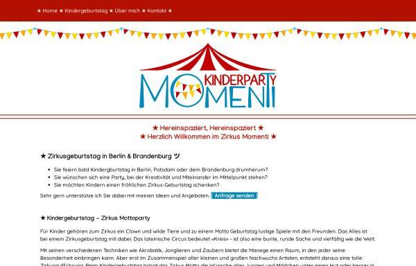 Vorschau von www.zirkus-kindergeburtstag.de, Mitmachzirkus für Kindergeburtstag