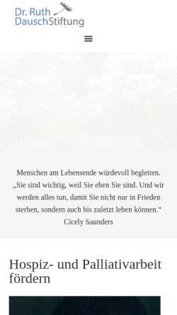 Vorschau der mobilen Webseite www.dausch-stiftung.de, Dr. Ruth Dausch-Stiftung