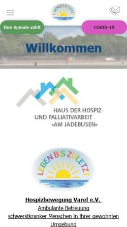 Vorschau der mobilen Webseite www.hospiz-varel.de, Hospizbewegung Varel e.V.