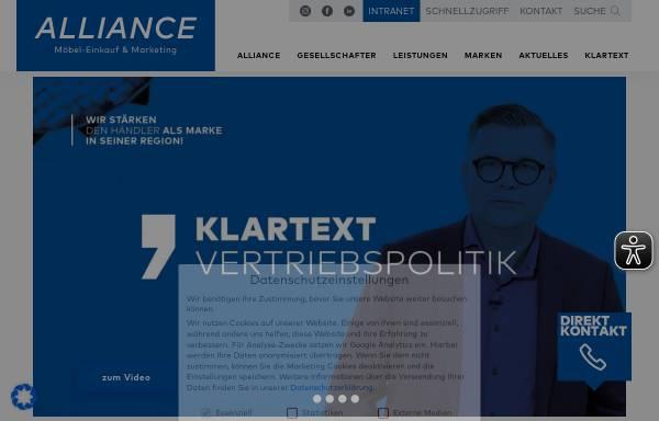 Vorschau von www.alliance.de, Alliance Möbel Marketing & Co Kg