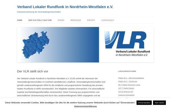 Vorschau von www.vlr-nrw.de, Verband lokaler Rundfunk in Nordrhein-Westfalen e.V. (VLR)