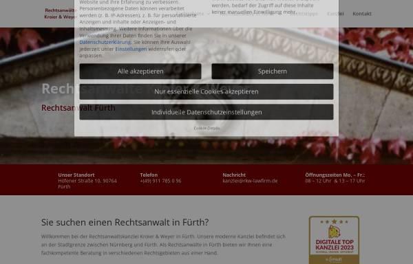 Vorschau von www.rkw-lawfirm.de, Rechtsanwälte Dres. Kroier & Weyer