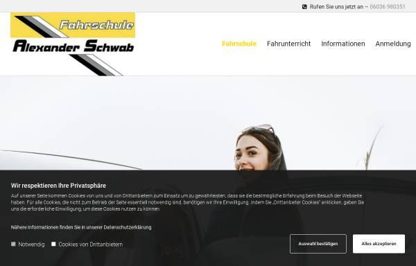 Vorschau von www.fahrschule-schwab.de, Fahrschule Alexander Schwab