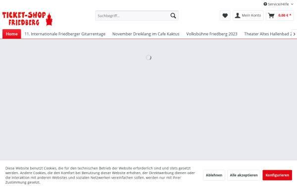 Vorschau von www.ticket-shop-friedberg.de, Ticket-Shop Friedberg