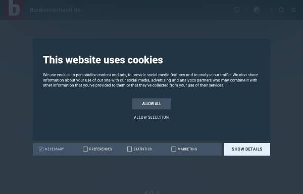 Vorschau von www.bankentag.de, Deutscher Bankentag