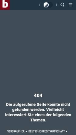 Vorschau der mobilen Webseite www.bankentag.de, Deutscher Bankentag