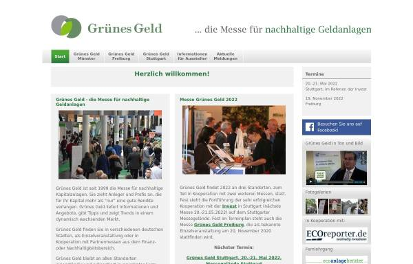 Vorschau von www.gruenesgeld.de, Grünes Geld by ECOeffekt GmbH