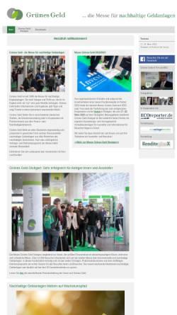 Vorschau der mobilen Webseite www.gruenesgeld.de, Grünes Geld by ECOeffekt GmbH