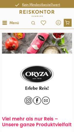 Vorschau der mobilen Webseite www.euryza.de, Euryza GmbH