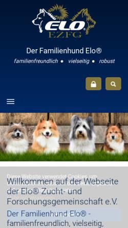 Vorschau der mobilen Webseite www.elohunde.de, Elozucht vom Kindelfließ