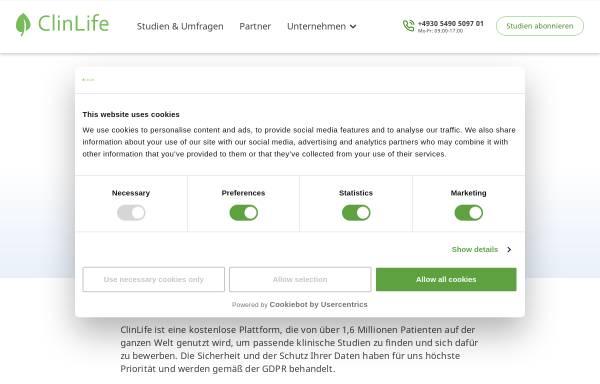 Vorschau von www.clinlife.at, ClinLife Österreich