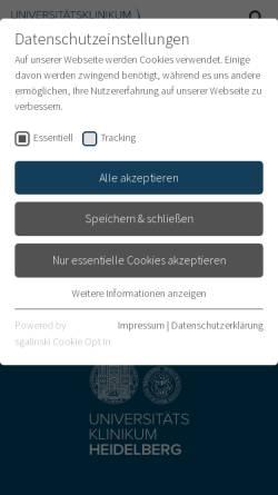 Vorschau der mobilen Webseite www.klinikum.uni-heidelberg.de, Dosisanpassung bei Niereninsuffizienz