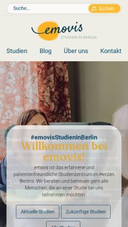 Vorschau der mobilen Webseite www.studien-in-berlin.de, Emovis GmbH