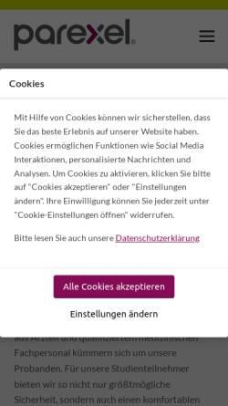 Vorschau der mobilen Webseite probandsein.de, Probandsein.de