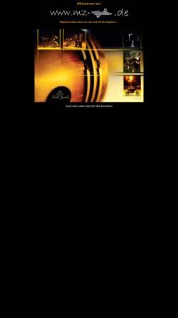 Vorschau der mobilen Webseite www.mz-baghira.de, MZ Baghira - die Seite für Baghira-Fahrer