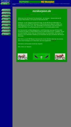 Vorschau der mobilen Webseite www.mzskorpion.de, MZ Skorpion - Das Forum für echte MZ - Fans.