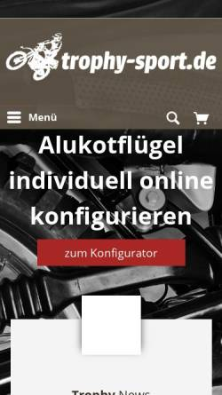 Vorschau der mobilen Webseite www.trophy-sport.de, Trophy-Sport.de