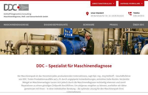 Vorschau von www.ddc-rostock.de, DDC Dethloff Diagnostik & Consulting Maschinendiagnose, Meß- und Sensortechnik GmbH