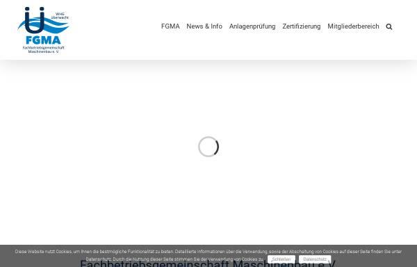 Vorschau von www.fgma.de, Fachbetriebsgemeinschaft Maschinenbau e.V.