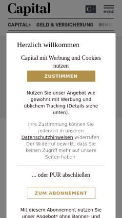 Vorschau der mobilen Webseite www.capital.de, Capital