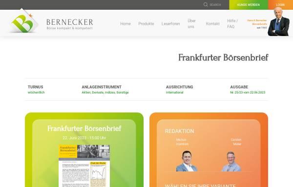 Vorschau von www.frankfurter-boersenbrief.de, Frankfurter Börsenbrief by Curt L. Schmitt GmbH