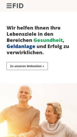 Vorschau der mobilen Webseite www.investor-verlag.de, Investor Verlag by FID Verlag GmbH