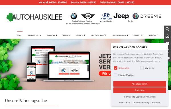 Vorschau von www.autohausklee.de, Autohaus Klee