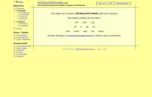 Vorschau von www.spenglertechnik.net, Portal für das Spenglerhandwerk