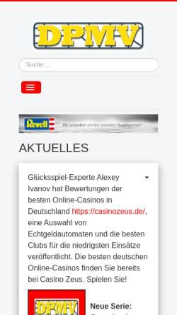 Vorschau der mobilen Webseite www.dpmv.de, Deutscher Plastik-Modellbau-Verband