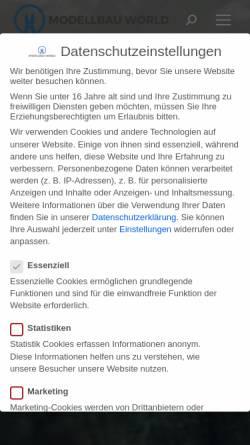 Vorschau der mobilen Webseite www.modellbau-world.de, Modellbau World - alles über Modellbau