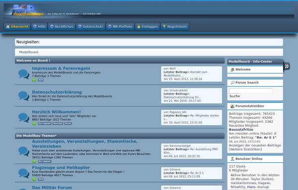 Vorschau von www.modellboard.net, Das Modellboard