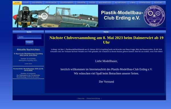 Vorschau von www.plastik-modellbau-club-erding.de, Seite des Plastik-Modellbau-Clubs Erding