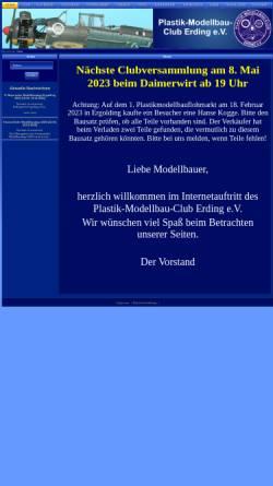 Vorschau der mobilen Webseite www.plastik-modellbau-club-erding.de, Seite des Plastik-Modellbau-Clubs Erding