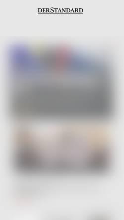 Vorschau der mobilen Webseite derstandard.at, dieStandard.at